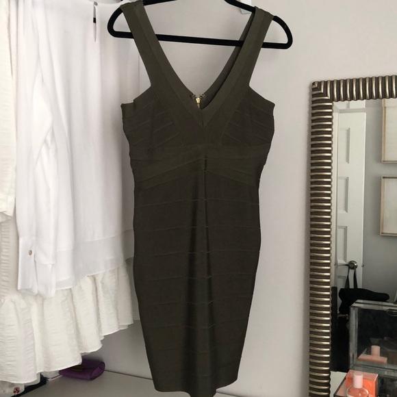 Dress bodycon khaki size L